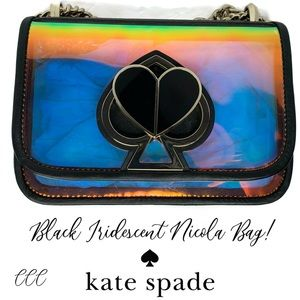 Kate Spade Iridescent Optic Black Nicola Rare Bag
